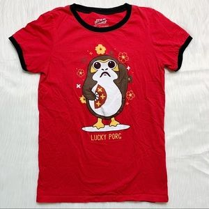 Star Wars Lucky Porg Chinese New Year Red Shirt